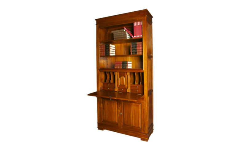 Writing Desk With Bookcase